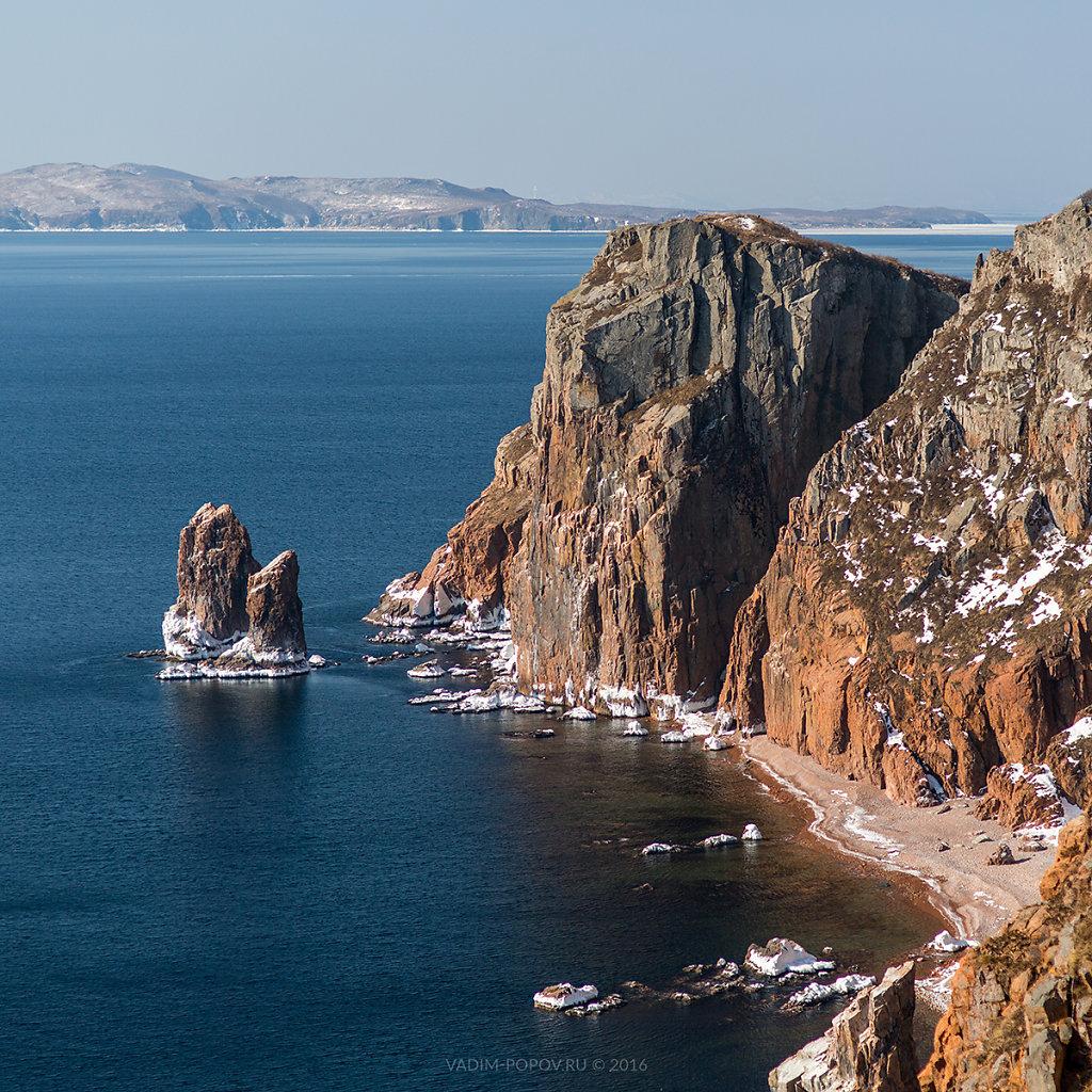 Остров Шкота зимой