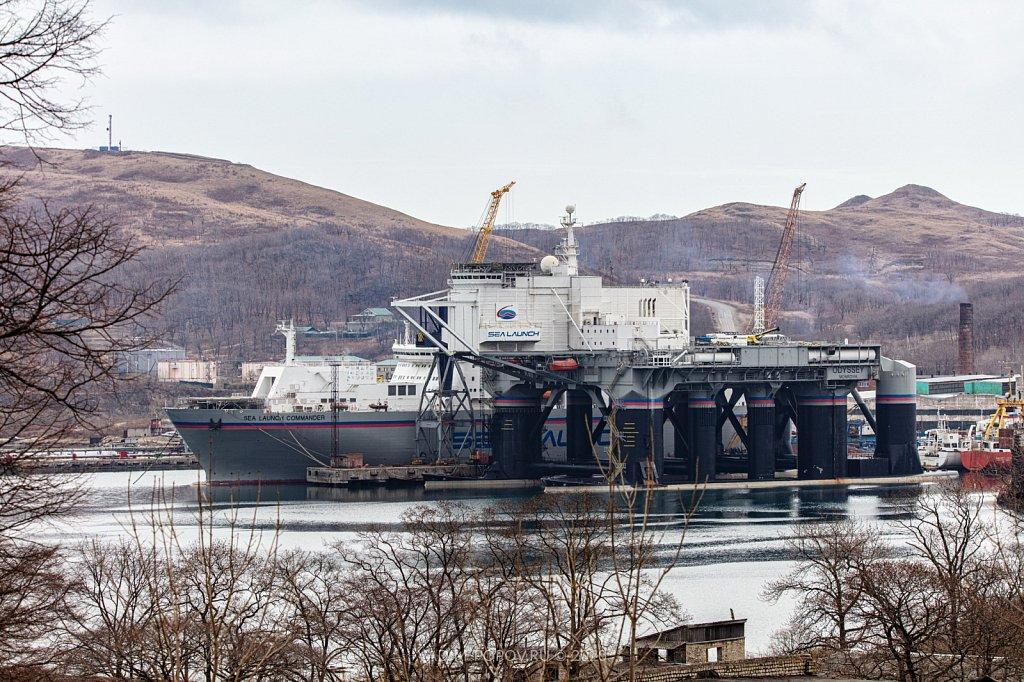 Плавучий космодром «Морской старт» / «Sea Launch» в Славянке